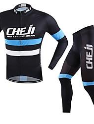 baratos -cheji® Homens Manga Longa Calça com Camisa para Ciclismo Moto Conjuntos de Roupas, Secagem Rápida