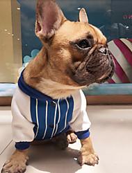 billige -Hund Sweatshirt Hundetøj Afslappet/Hverdag Mode Stribe Rød Blå Kostume For kæledyr