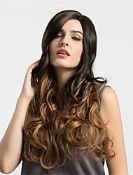 cheap -Women Synthetic Wig Capless Long Very Long Wavy Dark Brown/Medium Auburn Ombre Hair Natural Wigs Costume Wigss