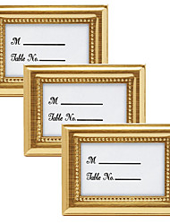cheap -3pcs/set - Wedding Anniversary Metal Photo Frame Place Card Holder 4 x 3 inch Beter Gifts® DIY Wedding Party Decoration