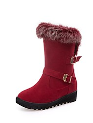 Women's Shoes Leather Customized Materials Winter Novelty Snow Boots Riding Boots Fashion Boots Combat Boots Light Soles Boots Flat Heel