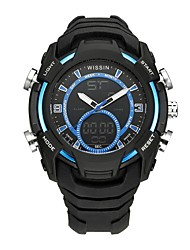 cheap -Men's Sport Watch Wrist watch Casual Watch Digital Watch Swiss Digital Chronograph LED Dual Time Zones Stopwatch Silicone Rubber Band