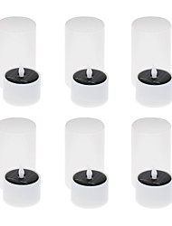 baratos -6pcs energia solar levou chá luz vela tealight sem flamas flickering xmas casamento