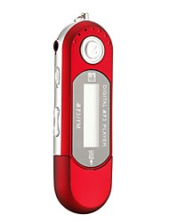 MP3 Player No Memory Capacity 3.5mm Jack TF Card Button Red Built-in Mcrophone