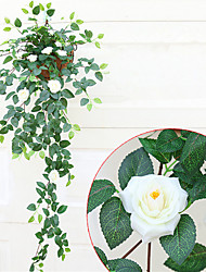 cheap -1 Branch Chinese Rose Vine Artificial Flowers Home Decoration Wedding Supply