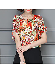 cheap -Women's Going out Blouse - Floral
