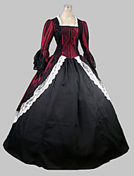 cheap -Victorian Rococo Female One-Piece/Dress Red Cosplay Satin Sleeveless Floor Length