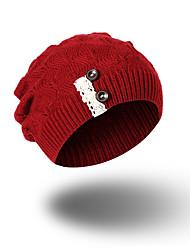 Feminino Chapéu Estampado Decoração de Cabelo Casual Chique & Moderno Mantenha Quente Roupa de Malha Acrílico Outono Inverno Gorro Floppy