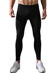 Herrn Laufhosen Atmungsaktiv Komfortabel Hosen/Regenhose für Rennen Übung & Fitness Polyester Eng Schwarz Blau M L XL XXL