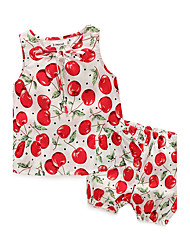 cheap -Baby Girls' Daily Print Clothing Set