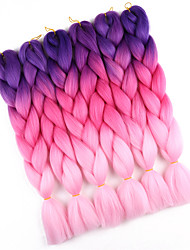 cheap -10pcs Jumbo Braids Hair Extensions Ombre Braiding 100% Kanekalon Hair Hair Braids