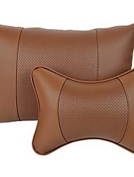 Settore automobilistico Kit di cuscino per poggiatesta e cuscini Per Universali Tutti gli anni Poggiatesta per auto Pelle