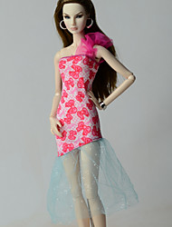 Недорогие -Платья Платья Для Кукла Барби Платье Для Девичий игрушки куклы