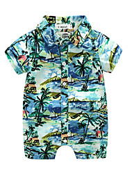 Baby Print One-Pieces,Polyster Summer Short Sleeve