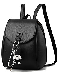 cheap -Women's Bags PU Backpack Beading for Casual Office & Career Winter All Seasons Black