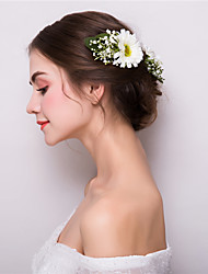 abordables -Tissu Alliage Fleurs Pince à cheveux 1 Mariage Fête / Soirée Casque