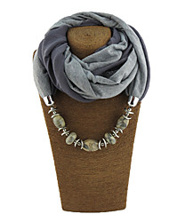 Women's Resin with Metal Clip Polyster Infinity Scarf Solid All Seasons