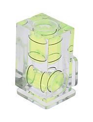 andoer 2 asse dimensione camera doppia bolla spirito bilanciamento livello caldo mount per canon nikon panosonic olympus sony mi dslr