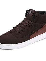 Men's Shoes Synthetic Microfiber PU Fall Winter Driving Shoes Comfort Sneakers Lace-up For Casual Office & Career Light Brown Coffee Black