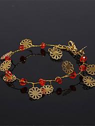 Women's Girls' Chain Bracelet Crystal Imitation Pearl Fashion Imitation Pearl Rhinestone Jewelry For Wedding Daily
