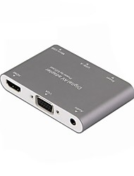economico -USB 3.0 Convertitore, USB 3.0 to HDMI 1.4 VGA Jack audio da 3.5mm Convertitore Femmina/femmina 1080P 10 Gbps