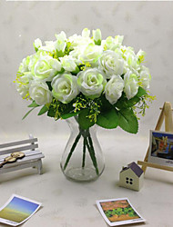1pcs 3Clor High Quality Artificial Flower Roses Simulation  Decorate Flower