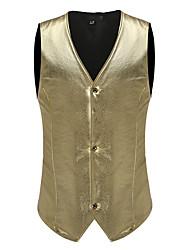cheap -Men's Vest - Solid, Print