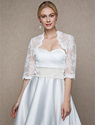cheap -Lace Wedding Party / Evening Women's Wrap With Lace Shrugs