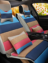 cheap -A Rainbow Cartoon Car Cushion Linen Cushion Seat Cover Seat Four Seasons General All Around Whole Linen -1#