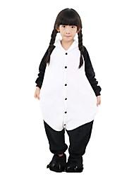 abordables -Pijama kigurumi Oso Panda Pijama Mono Pijamas Disfraz Franela Negro / blanco Cosplay por Niño Ropa de Noche de los Animales Dibujos