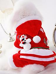 Dog Costume Dog Clothes Christmas Christmas American/USA Red Costume For Pets