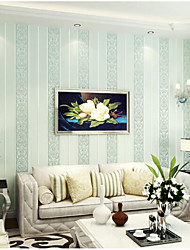 Floral Wallpaper For Home Modern Wall Covering , Non-woven fabric Material Adhesive required Wallpaper , Room Wallcovering