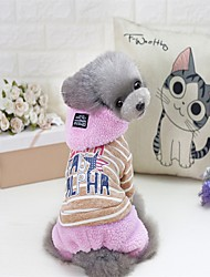Cat Dog Coat Sweater Hoodie Jumpsuit Pajamas Christmas Dog Clothes Party Casual/Daily Keep Warm Sports Halloween New Year's Letter &
