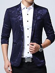 Blazer Homme,camouflage Travail Grandes Tailles simple Printemps Automne Manches longues Col de Chemise Normal Coton Acrylique