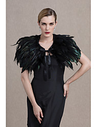 cheap -Feather / Fur Wedding Party / Evening Women's Wrap Capelets