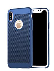 Per iPhone X iPhone 8 iPhone 8 Plus Custodie cover Effetto ghiaccio Custodia posteriore Custodia Tinta unica Resistente PC per Apple