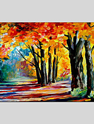 cheap -Oil Painting Hand Painted - Landscape Classic & Timeless Canvas