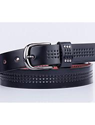 Women's Alloy Waist Belt,Pattern Solid Cut Out Retro Rivet