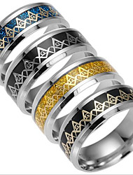 Men's Women's Band Rings Fashion Titanium Steel Jewelry Jewelry For Daily