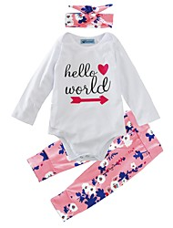 cheap -Baby Girl's Indoor Outdoor Daily Floral Clothing Set