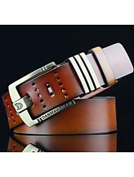 cheap -Men's Pattern Alloy Waist Belt - Solid Colored Cut Out Retro