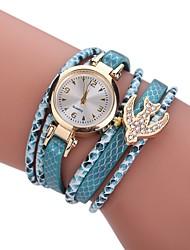 abordables -Femme Quartz Montre Diamant Simulation Bracelet de Montre Chinois Imitation de diamant Alliage Tissu Bande Charme Décontracté Bohème