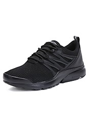 cheap -Men's Shoes Breathable Mesh PU Spring Fall Comfort Athletic Shoes Track & Field Shoes Lace-up For Athletic Outdoor Black/White Light Grey