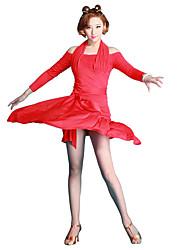 preiswerte -Latein-Tanz Damen Leistung Milchfieber Eis-Seide Röcke