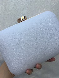 cheap -Women's Bags leatherette Evening Bag Crystals for Wedding / Event / Party White / Black / Blushing Pink