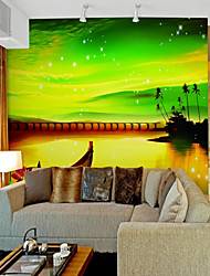 sky Classic Nature & Landscapes Wallpaper For Home Pastoral Style Wall Covering  Canvas Material Adhesive required Mural  Room