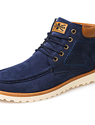 Men's Shoes PU Fall Winter Comfort Fashion Boots Boots Lace-up For Casual Blue Yellow Black