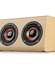 abordables -W7 Mini Estilo Bluetooth Bluetooth 2.1 3.5mm AUX Altavoz de Estantería Beige Marrón
