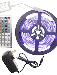 5m 300x2835led strip light sets impermeável rgb 44 chave controlador ac100-240v au / eu / us / uk power plug dc12v 2a