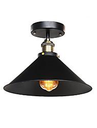 Industrial Ceiling Light Semi Flush Vintage Metal 1-Light Mini Dining Room Kitchen Light Fixture Diameter 30cm